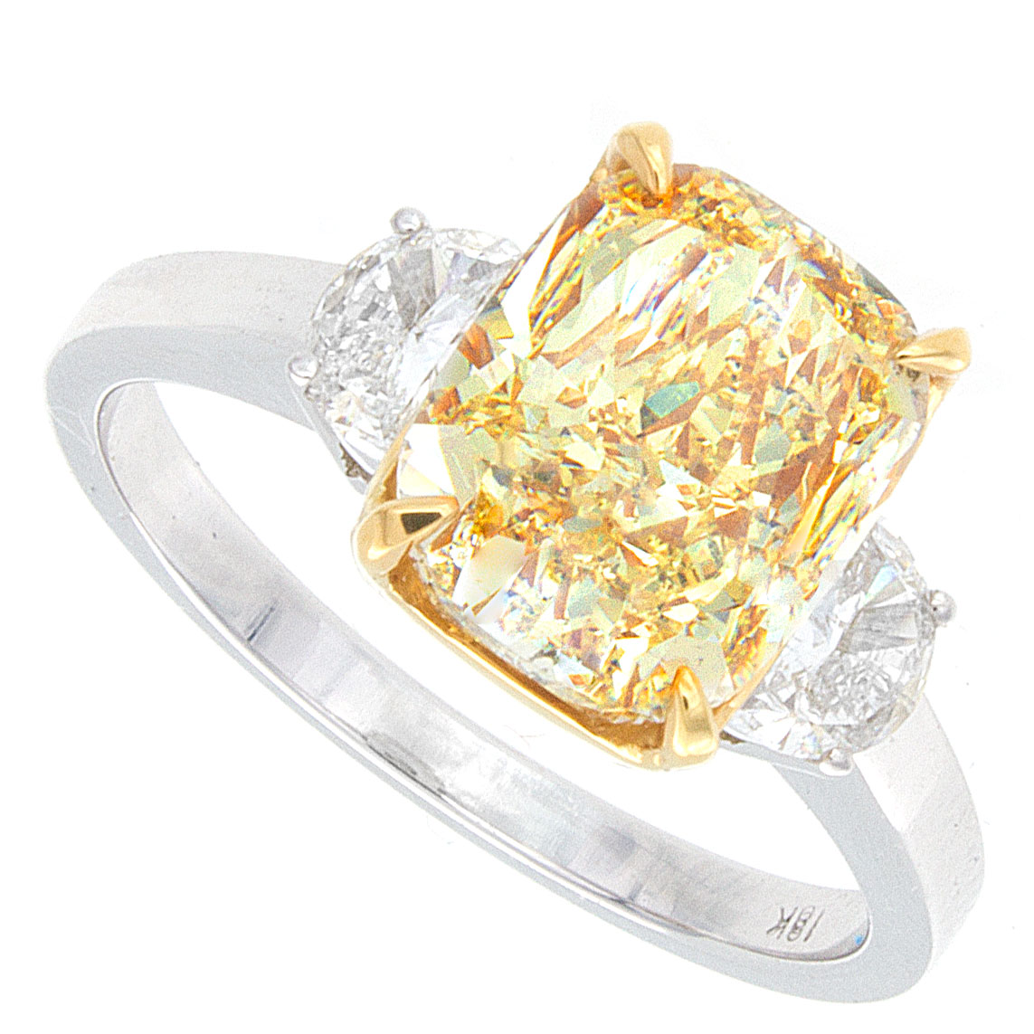of blog ring collection engagement yellow cushion jewelry fine launches debebians fancy canary cut diamond rings