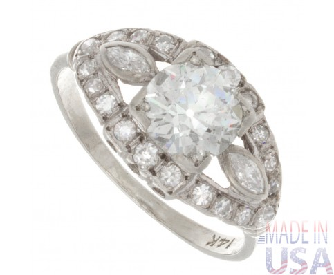 1.50ct Old European Cut Antique Diamond Engagement Ring