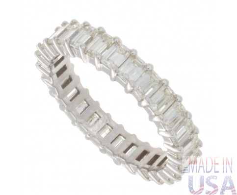 2.41ct Emerald Cut Diamond Eternity Band