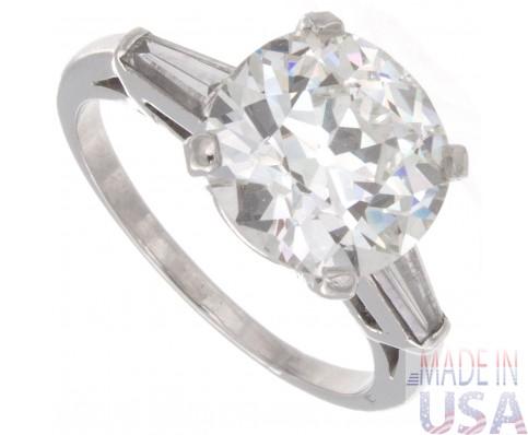 3.27ct Old European Cut Van Cleef & Arpels GIA Diamond Engagement Ring