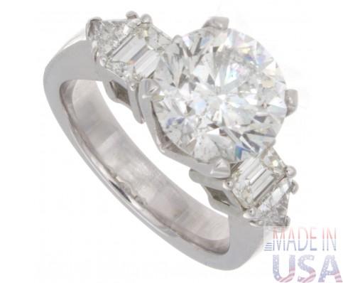 3.75ct Round Brilliant Cut Antique Diamond Engagement Ring