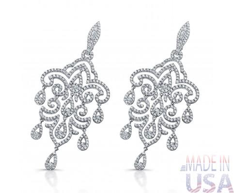 Ladies Chandelier Diamond Earrings