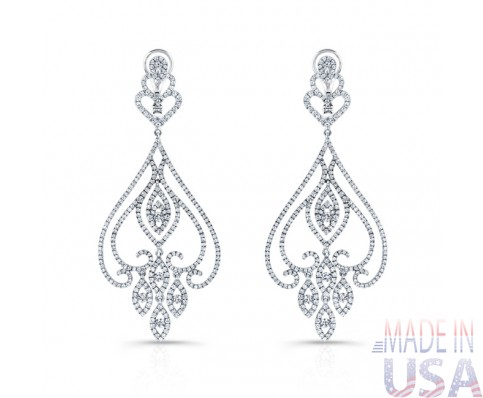 Ladies Diamond Chandelier Earrings