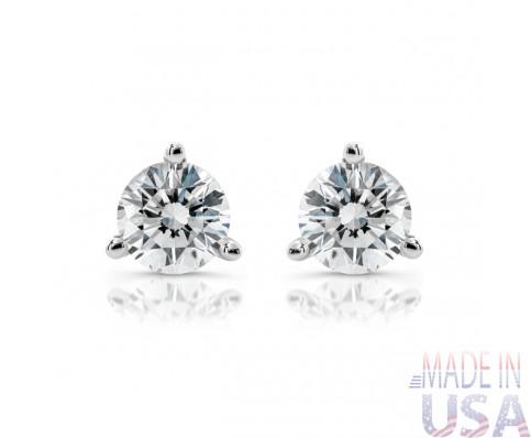 Ladies 1.50ct Round Martini Diamond Stud Earrings