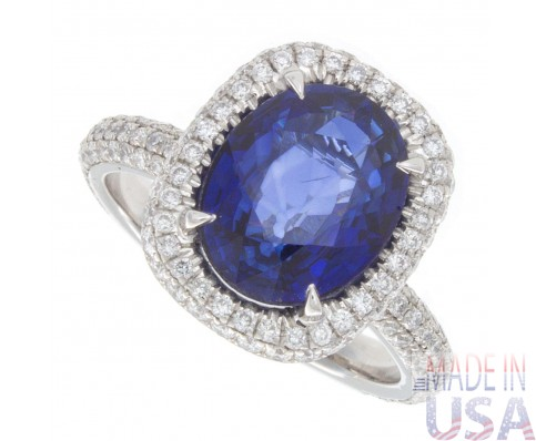 4.00ct Ceylon Sapphire Ring