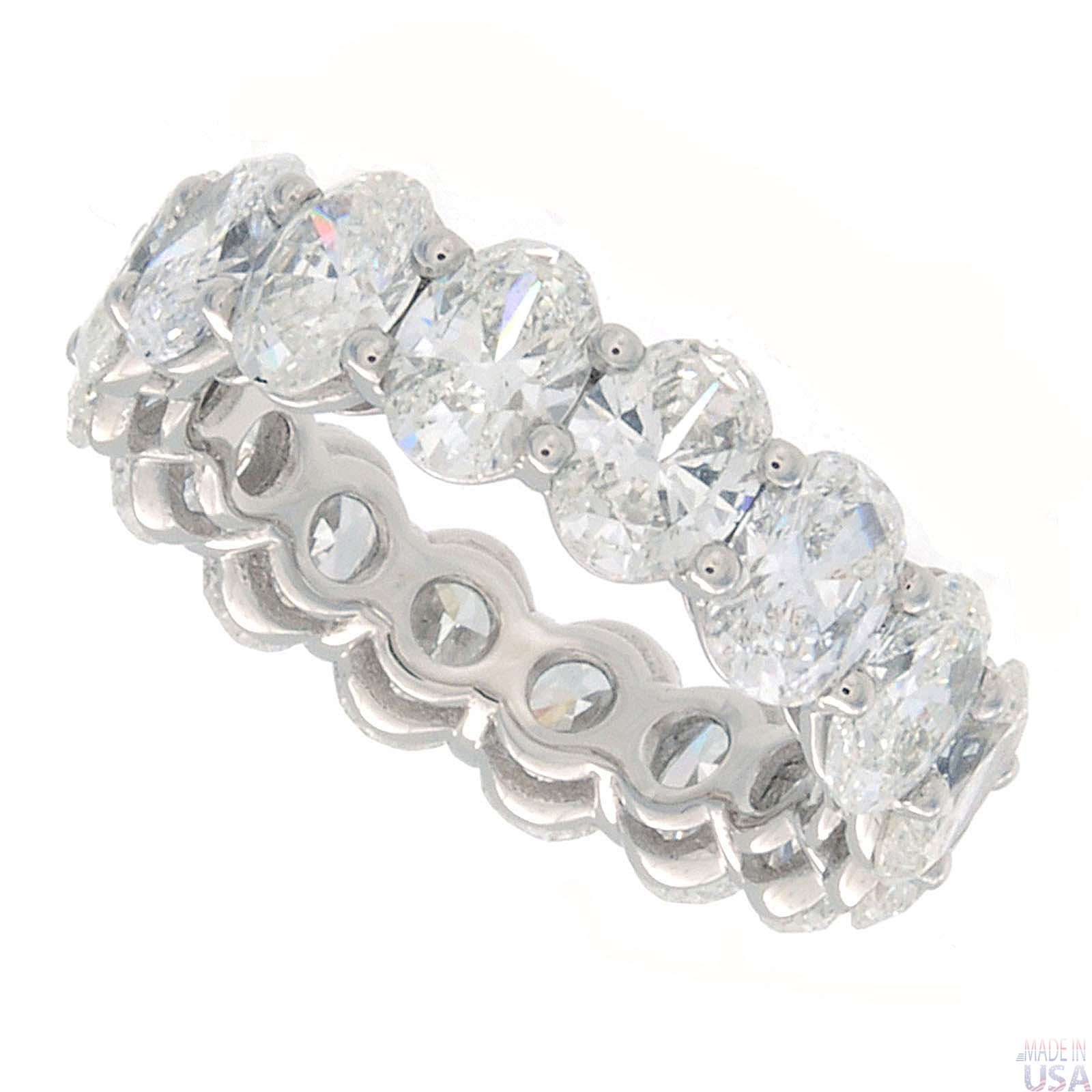 de diamond platinum allegria ring beers eternity bands full band