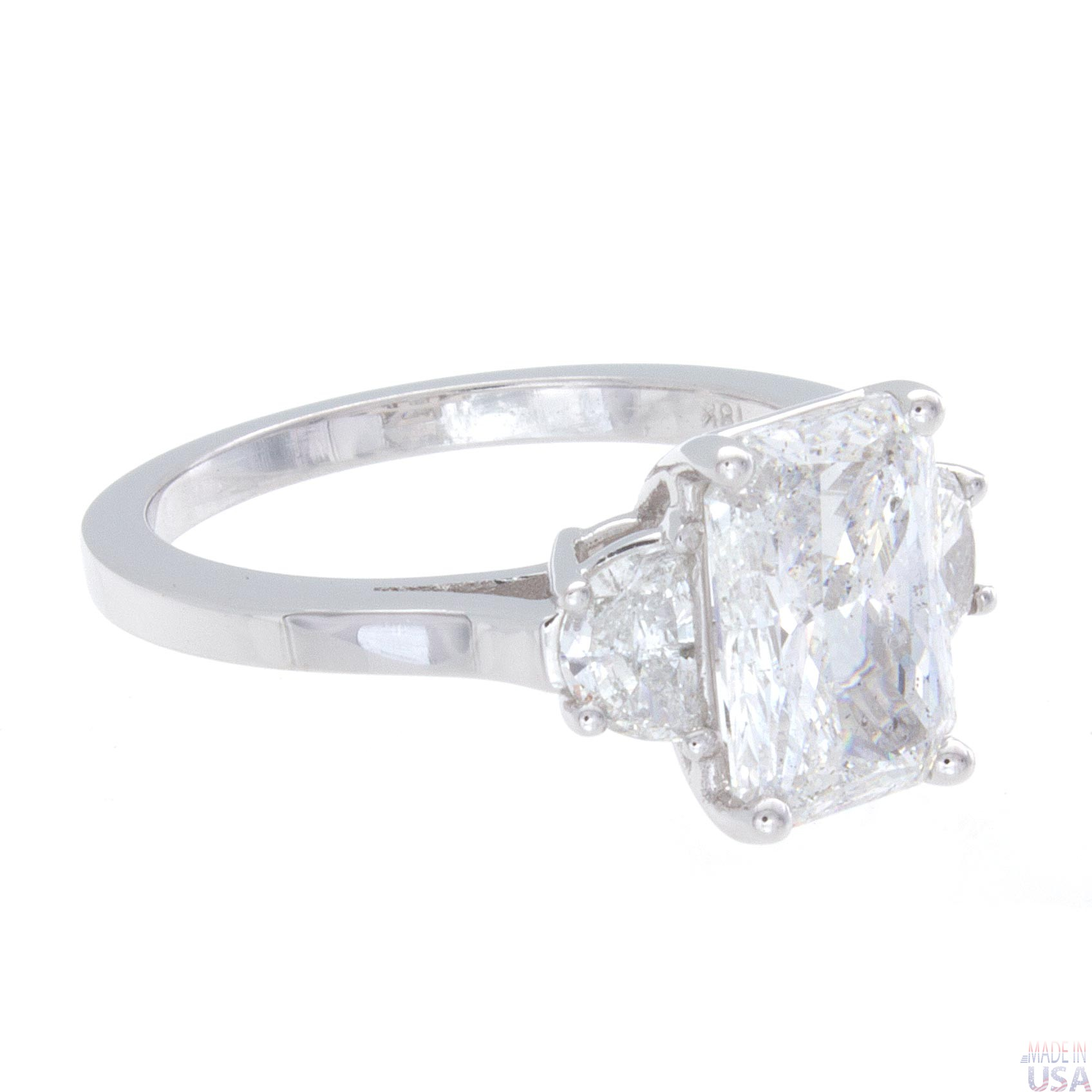 2 37ct radiant cut engagement ring