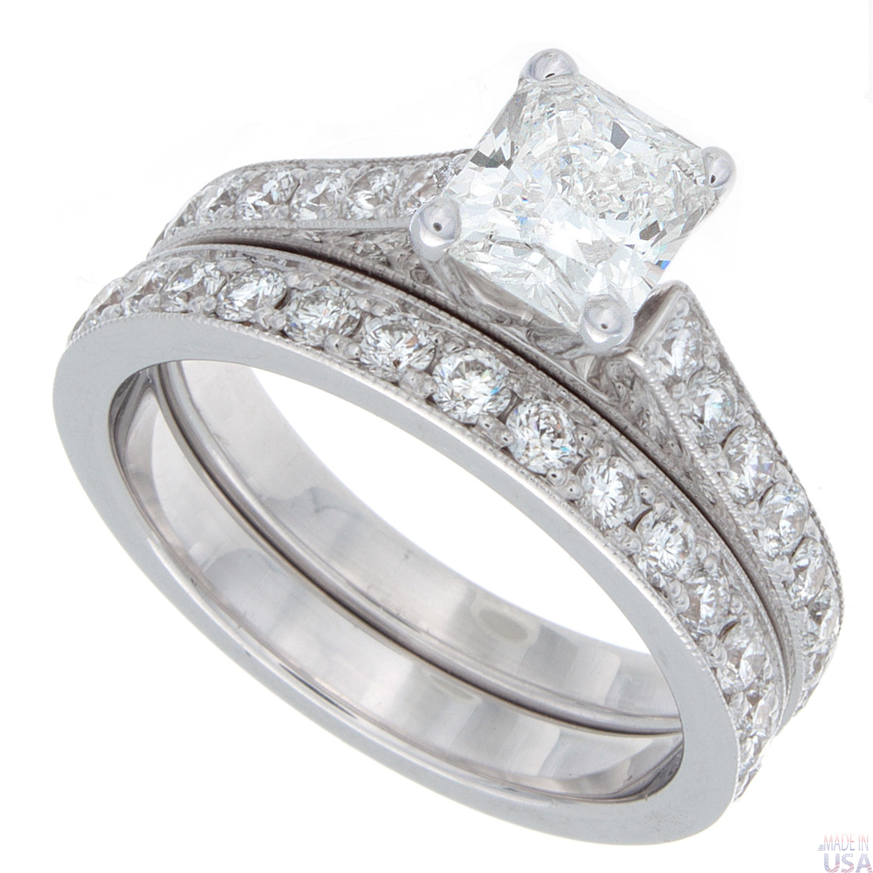 2 00ct radiant cut engagement ring