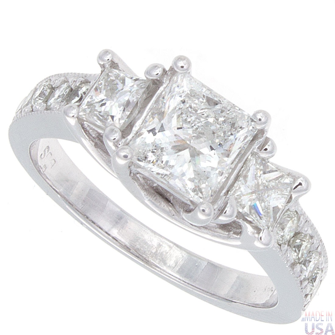 2 00ct princess cut engagement ring