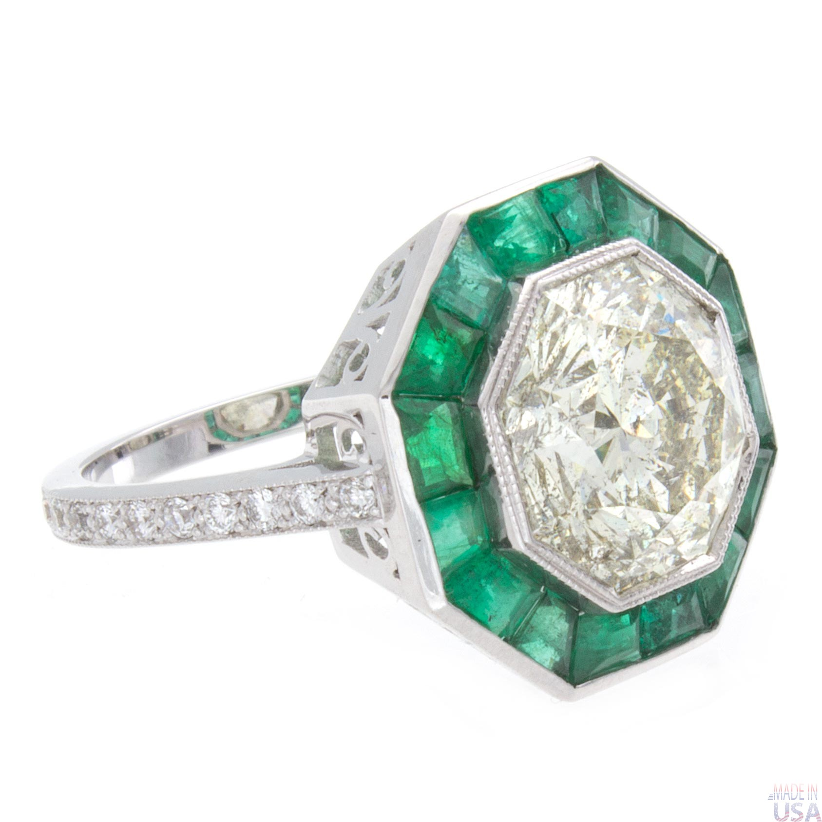 with diamond pin octagon aquamarine princess diamonds s cut facebook