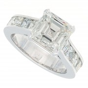 5.24ct Asscher Cut Diamond Engagement Ring