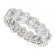6.82ct Oval Cut Diamond Eternity Band