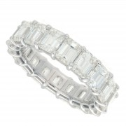 7.37ct Emerald Cut Diamond Eternity Band