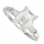 2.26ct GIA Certified Emerald Cut Diamond Engagement Ring