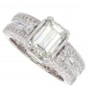 2.50ct Certified Emerald Cut Diamond  Engagement Ring