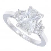 2.37ct Radiant Cut Diamond Engagement Ring