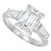 2.20ct Emerald Cut Diamond Engagement Ring