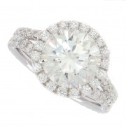 4.06ct Round Brilliant Cut Certified Diamond Engagement Ring