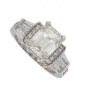 2.80ct Certified Emerald Cut Diamond  Engagement Ring