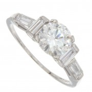 1.40ct Certified Round Brilliant Cut Diamond Engagement Ring