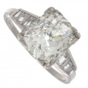 4.60ct Old mine Cut Certified Antique Diamond Engagement Ring