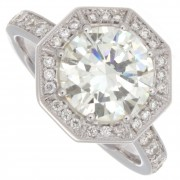 2.40ct Certified Round Brilliant Cut Diamond Engagement Ring