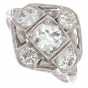 1.46ct Old European Cut GIA Certified Antique Diamonds Engagement Ring