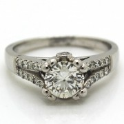 1.23ct Ladies Pavé Diamond Engagement Ring