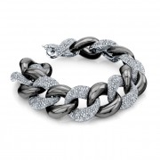 Ladies Pavé Diamond Link Bracelet