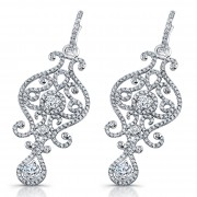 Ladies Chandelier Diamond Earrings