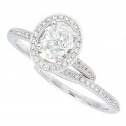 1.39ct Oval Cut Diamond Engagement Ring Set