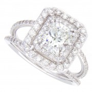 1.90ct Radiant Cut Diamond Engagement Ring