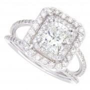 1.90ct Radiant Cut Diamond Engagement Ring