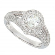 1.25ct Oval Cut Diamond Engagement Ring
