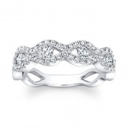 Ladies White Gold Diamond Ring