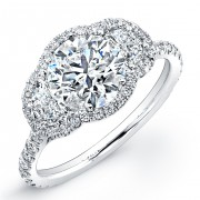 2.35ct Round Brilliant Cut Diamond Micropavé Engagement Ring