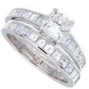 2.18ct Cushion Cut Diamond Engagement Ring