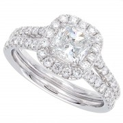1.73ct Cushion Cut Diamond Micropavé Engagement Ring