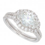 1.84ct Round Brilliant Cut Diamond Engagement Ring