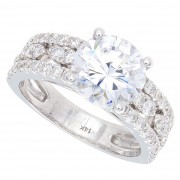 4.00ct Round Brilliant Cut Diamond Engagement Ring