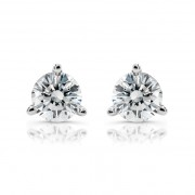 Ladies 1.50ct Round Martini Diamond Stud Earrings