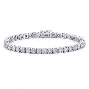 Ladies White Gold 8.25ct Diamond Tennis Bracelet