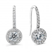 Ladies 1.00ct J Hoop Diamond Earrings