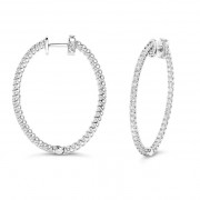 Ladies 2.25ct Diamond Hoop Earrings