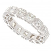 3.33ct Asscher Cut Diamond Vintage Eternity Band