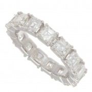 3.31ct Asscher Cut Diamond Eternity Band
