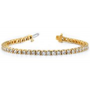 Ladies 5.00ct Yellow Gold Diamond Tennis Bracelet