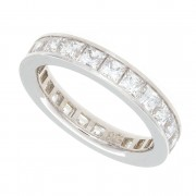 2.80ct Princess Cut Diamond Eternity Band