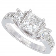 2.00ct Princess Cut Diamond Engagement Ring