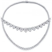 Ladies 10.00ct Diamond Tennis Necklace